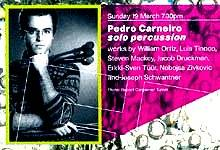 Pedro Carneiro (percussion) Purcell Room, London. 19 March 2000