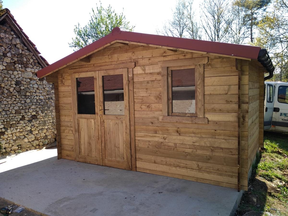 abri de jardin bois traite eco 12 m madriers 40 mm