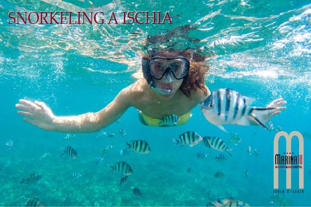 Snorkeling a Ischia validità dal 19 Aprile al 07 Agosto 2019 e dal 25 Agosto al 21 Ottobre 2019.
