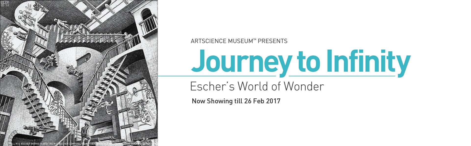 M.C.Escher exhibition at ArtScience Museum