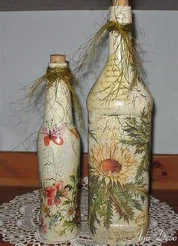 Ideas de decoupage en botellas (17)