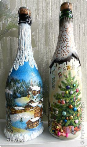 Ideas de decoupage en botellas (7)