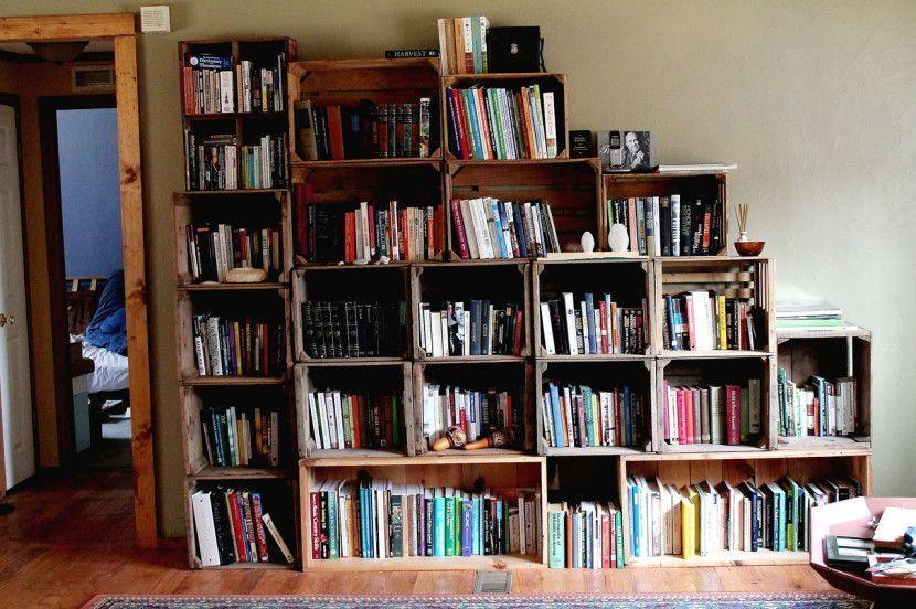 ideas e inspiracin de como reciclar cajas de fruta con cajas de fruta puedes decorar y crear multitud de cosas como libreras camas mesas estanteras