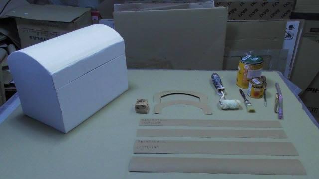 Cofre hecho con Cartón (6)
