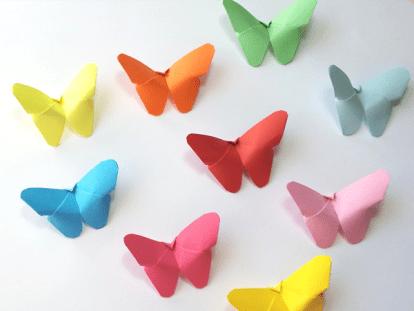 Mariposas en Origami