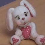 Conejo en porcelana fría