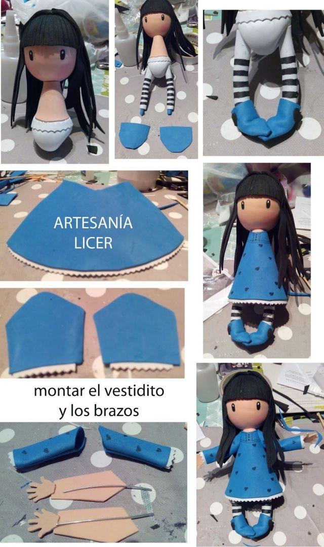 b83465718d6 Fofucha Gorjuss paso a paso - Marina Creativa
