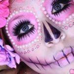Maquillaje para disfraz de Catrina Pink
