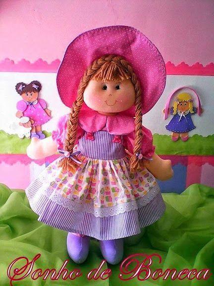 muñeca de trapo con pamela