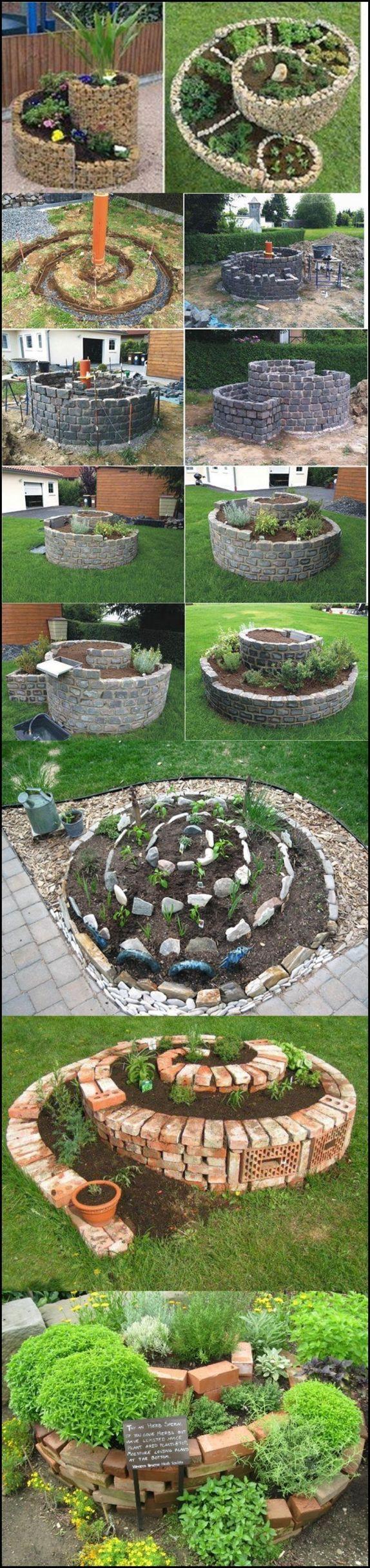 jardin espiral con plantas 3