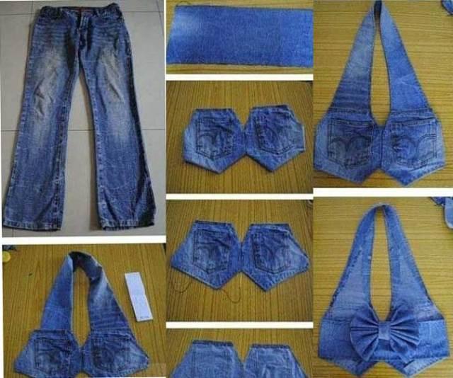 16aa296bc Hacer un chaleco con unos Jeans - Marina Creativa