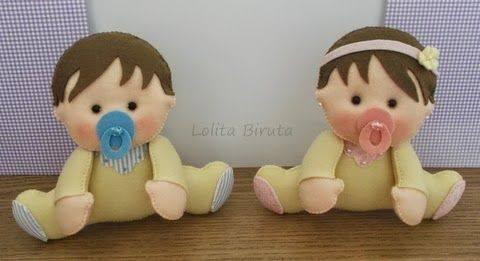 Molde bebé en fieltro