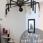 DIY araña gigante en pared halloween