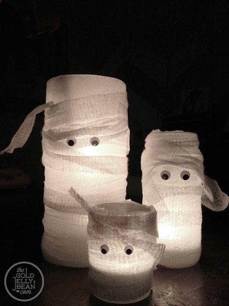 decoracion-halloween-velas-momia