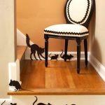 Patrones de ratones y gatos en fieltro para halloween