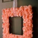 DIY cuadro de rosas con papel de seda