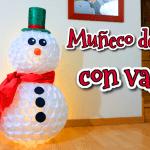 DIY Muñeco de nieve con vasos de plástico
