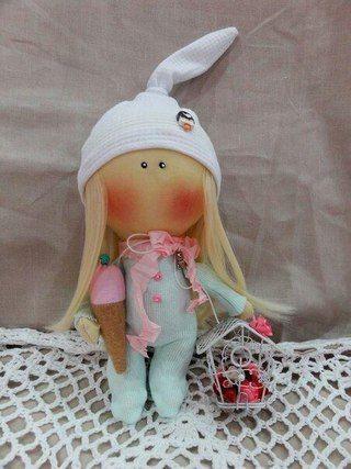 Patrón de muñeca mini