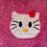 DIY Alfombra Hello Kitty a crochet