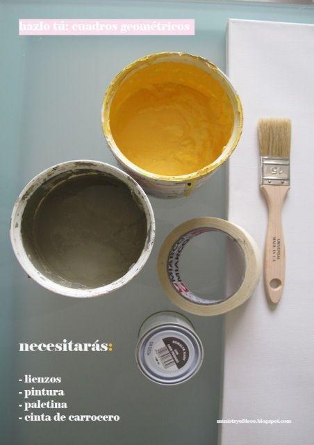 Materiales para hacer lienzos decorativos