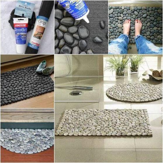 Como hacer una alfombra con piedras DIY