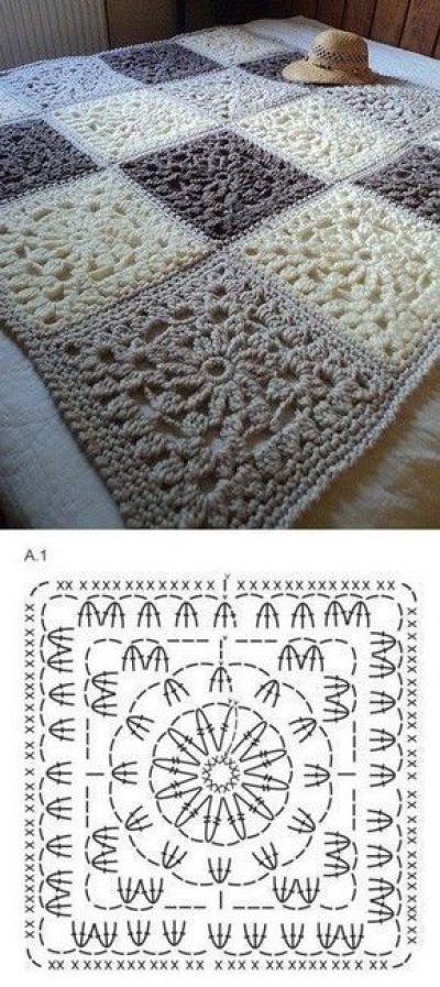 Ideas para hacer mantas a crochet - Marina Creativa