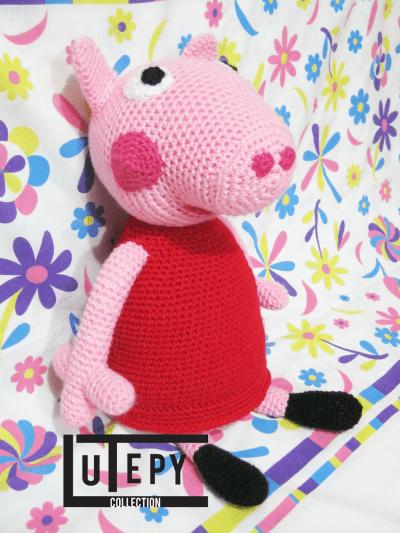 DIY gratis de Peppa Pig (amigurimi)
