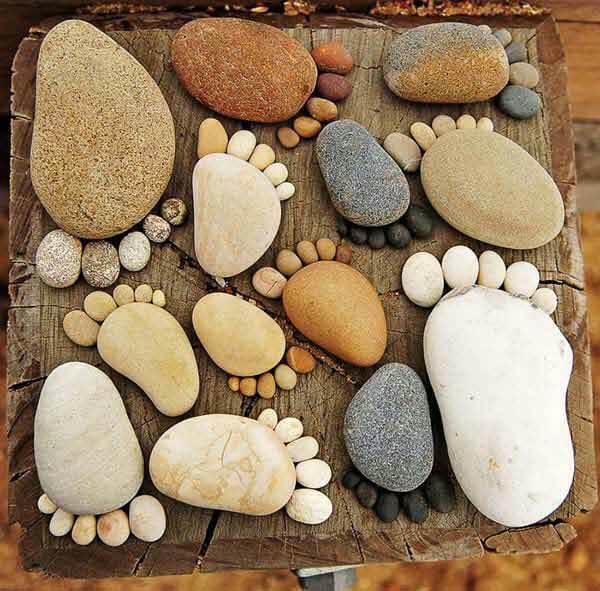Pies Con Piedras Decorar Jardin Marina Creativa