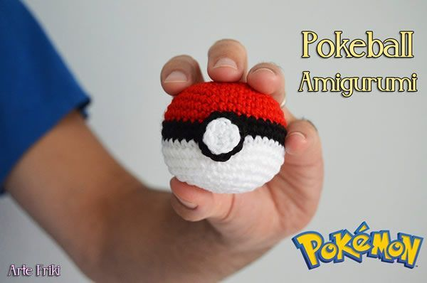 Diy Pokeball amigurimi