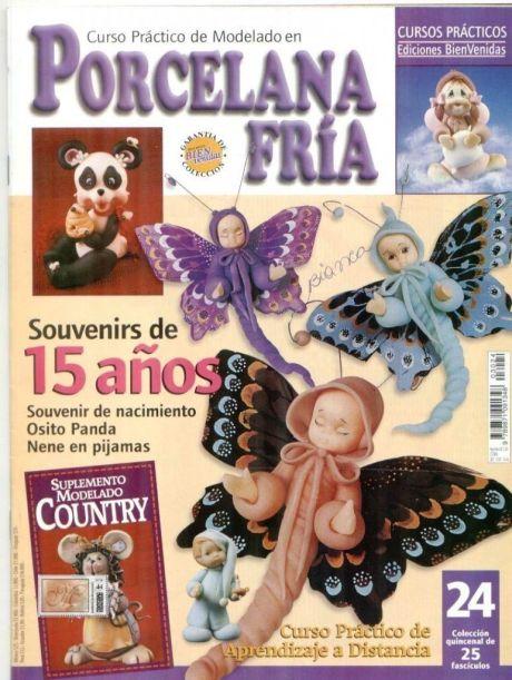 Revista con tutorial y moldes de porcelana fría