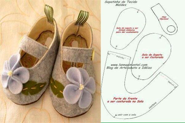 6 Modelos con molde de zapatillas para bebe 3