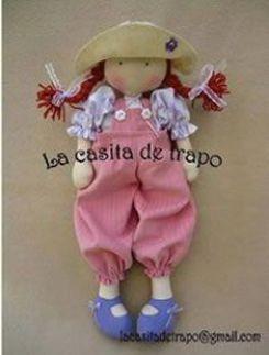 Moldes gratis para hacer muñeca  de trapo Amanda