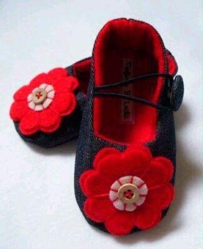 6 Modelos con molde de zapatillas para bebe 1