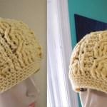 DIY  Gorro de trenzas a crochet