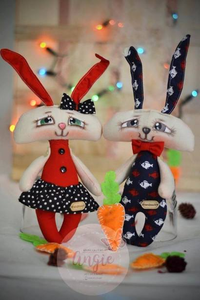 Conejo de tela con patrón gratis