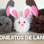 DIY para aprende a hacer conejitos de pompones de lana