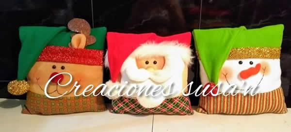 DIY Cojines navideños con moldes