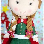 munecas de navidad en fieltro 8