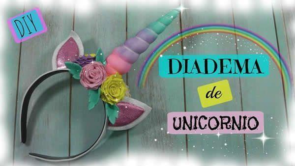 DIY Diadema unicornio