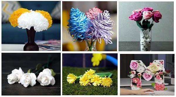 DIY Como hacer Flores de papel