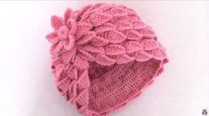 DIY para hacer un gorro 3D en crochet