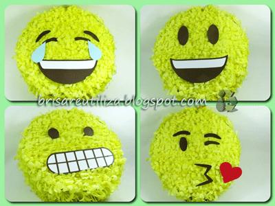 DIY Como hacer piñata con motivo de emojis
