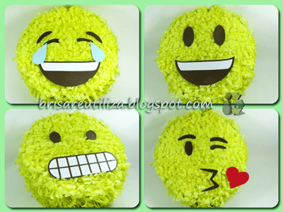 DIY Como hacer piñata con motivo de emojis 2