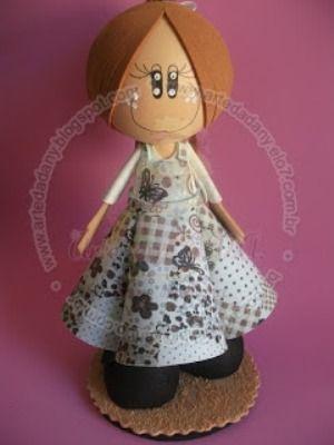 Patrones para hacer una fofucha con vestido