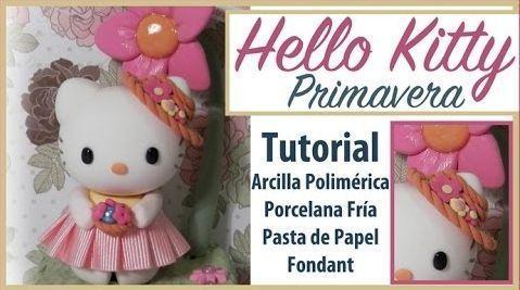 DIY Hello Kitty primavera hecha en porcelana fría