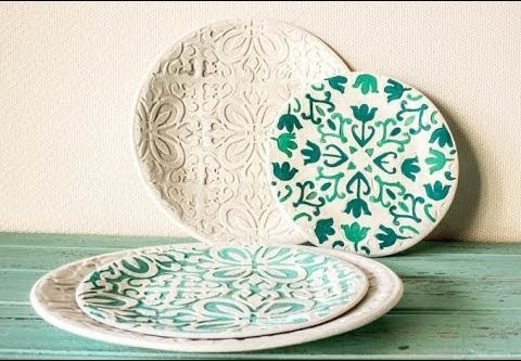 Crea tus propios platos y cuencos hechos de pasta de modelar
