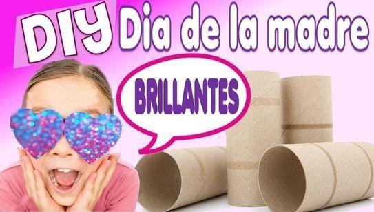 Brillantes regalos para el día de la madre con tubos de cartón