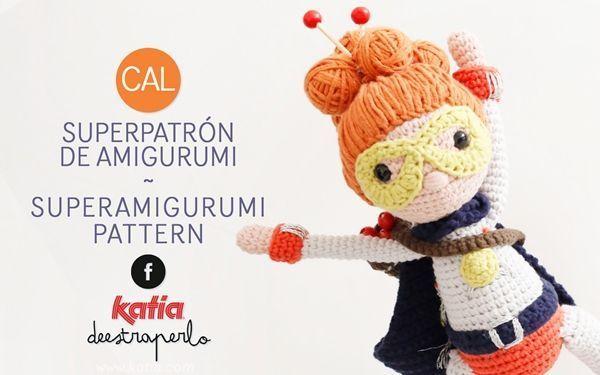 Patrón para hacer una super Yarnwoman en amigurimi
