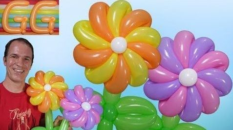 Como hacer flores con globos (globoflexia)