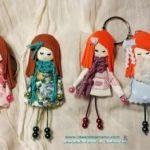 DIY como hacer muñecas para broche o llavero
